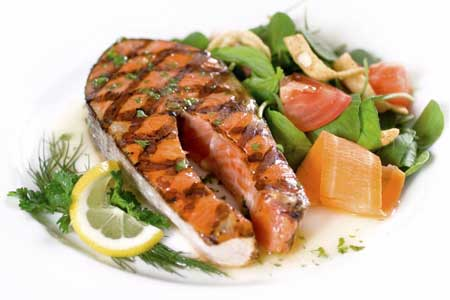 Paleo diet food consists mainly of meat, fish, chicken and dairy.